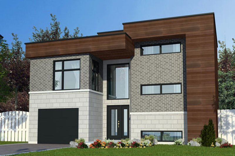 Modern Style House Plan - 2 Beds 1.5 Baths 1446 Sq/Ft Plan #138-379 Exterior - Front Elevation