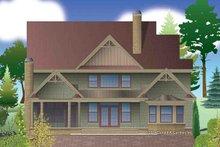 Dream House Plan - Craftsman Exterior - Rear Elevation Plan #929-30
