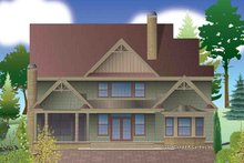 Craftsman Exterior - Rear Elevation Plan #929-30