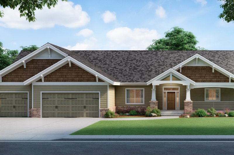 Home Plan - Farmhouse Exterior - Front Elevation Plan #112-167