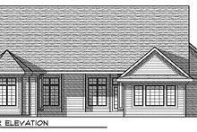 Dream House Plan - Traditional Exterior - Rear Elevation Plan #70-870