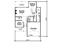 Farmhouse Floor Plan - Main Floor Plan Plan #20-2362
