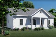 Farmhouse Style House Plan - 2 Beds 2 Baths 1035 Sq/Ft Plan #44-224 Exterior - Other Elevation