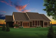 House Plan Design - Craftsman Exterior - Rear Elevation Plan #70-1097