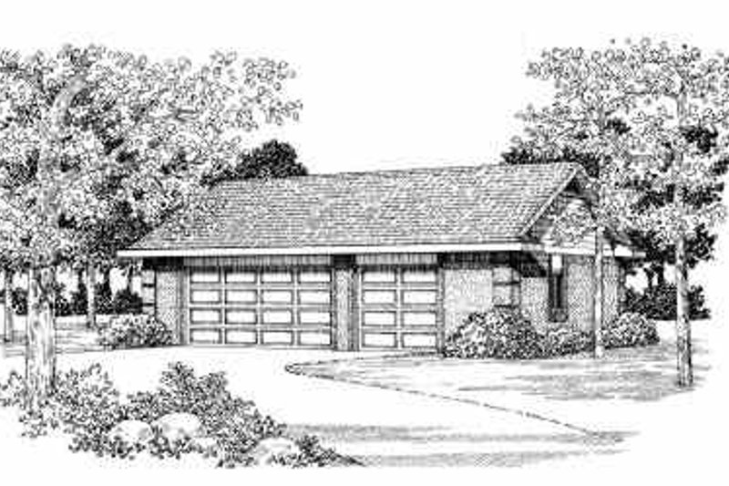 Traditional Exterior - Front Elevation Plan #72-279 - Houseplans.com