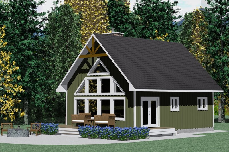 Traditional Style House Plan - 3 Beds 1 Baths 1011 Sq/Ft Plan #126-131 Exterior - Front Elevation
