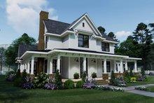 Dream House Plan - Farmhouse Exterior - Front Elevation Plan #120-261