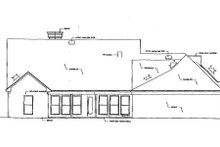 Southern Exterior - Rear Elevation Plan #320-139