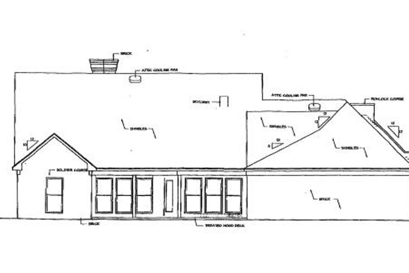 Southern Exterior - Rear Elevation Plan #320-139 - Houseplans.com