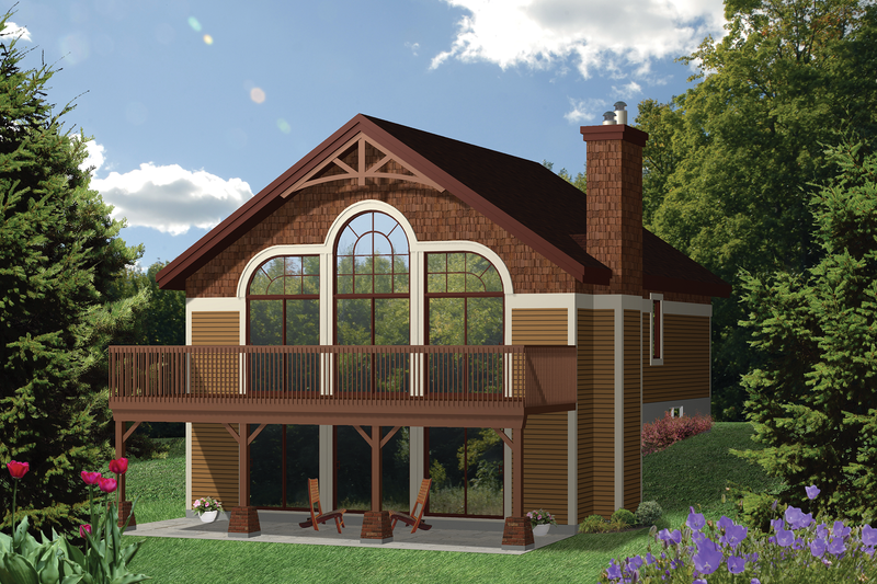 Contemporary Style House Plan - 2 Beds 1 Baths 1021 Sq/Ft Plan #25-4317 Exterior - Front Elevation