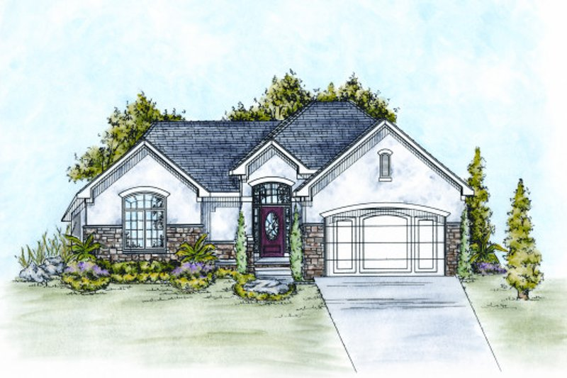 Traditional Exterior - Front Elevation Plan #20-2106 - Houseplans.com