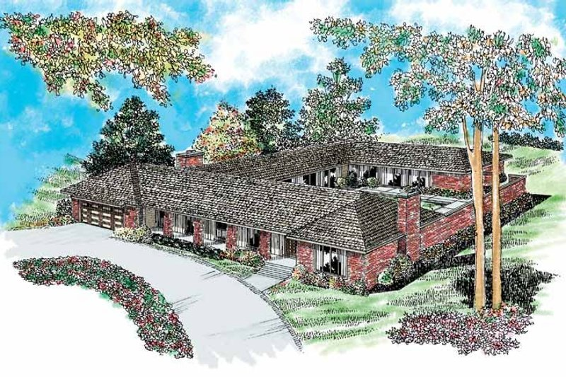 Dream House Plan - Ranch Exterior - Front Elevation Plan #72-202