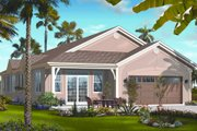 Mediterranean Style House Plan - 4 Beds 2.5 Baths 2336 Sq/Ft Plan #23-2216 Exterior - Rear Elevation