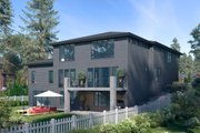 Contemporary Style House Plan - 6 Beds 4.5 Baths 5200 Sq/Ft Plan #1066-117 Exterior - Other Elevation