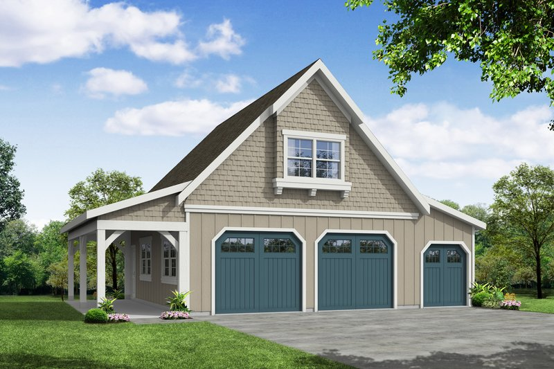Home Plan - Craftsman Exterior - Front Elevation Plan #124-933