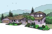 Modern Style House Plan - 4 Beds 2 Baths 2139 Sq/Ft Plan #60-619 Exterior - Front Elevation