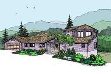 Modern Exterior - Front Elevation Plan #60-619