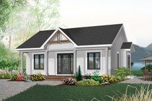 House Plan Design - Cottage Exterior - Front Elevation Plan #23-512