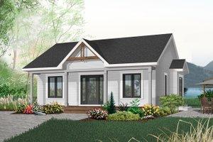 Cottage Exterior - Front Elevation Plan #23-512