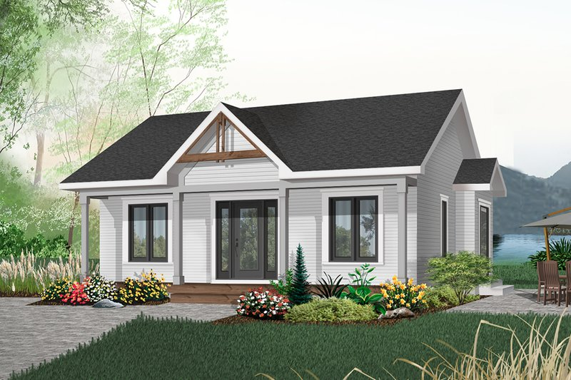 Cottage Style House Plan - 2 Beds 1 Baths 910 Sq/Ft Plan #23-512