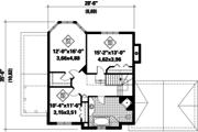 Traditional Style House Plan - 3 Beds 1 Baths 1837 Sq/Ft Plan #25-4766 Floor Plan - Upper Floor Plan