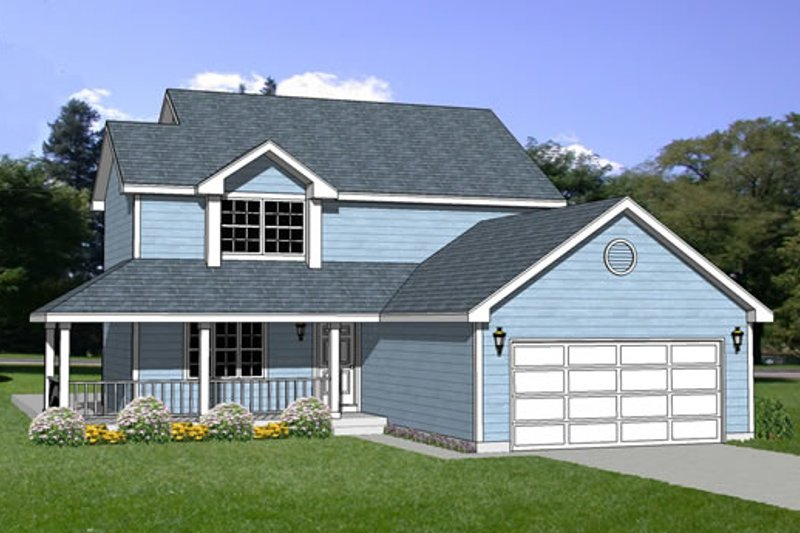 Traditional Style House Plan - 3 Beds 2.5 Baths 1816 Sq/Ft Plan #116-184 Exterior - Front Elevation