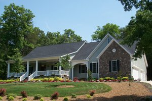 Country Exterior - Front Elevation Plan #310-215