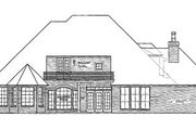 European Style House Plan - 4 Beds 3.5 Baths 2852 Sq/Ft Plan #310-388 Exterior - Rear Elevation