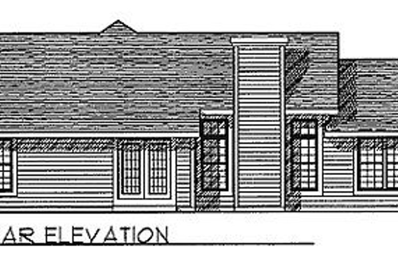 Traditional Exterior - Rear Elevation Plan #70-160 - Houseplans.com