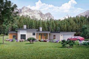 Architectural House Design - Modern Exterior - Front Elevation Plan #924-15