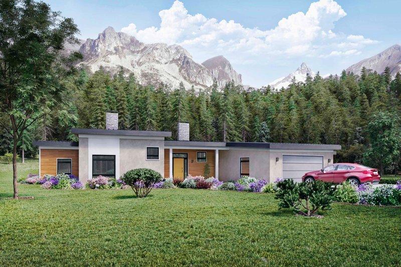 Home Plan - Modern Exterior - Front Elevation Plan #924-15
