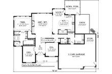 Craftsman Floor Plan - Main Floor Plan Plan #70-1065
