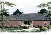 Traditional Style House Plan - 3 Beds 2.5 Baths 1847 Sq/Ft Plan #406-136 Exterior - Rear Elevation
