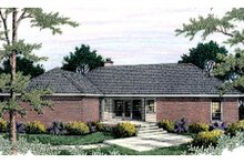 Dream House Plan - Traditional Exterior - Rear Elevation Plan #406-136