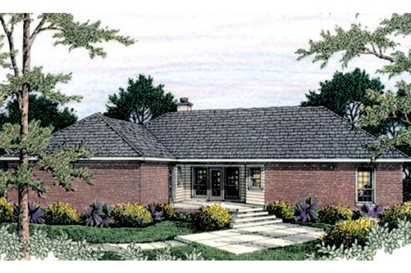 Traditional Exterior - Rear Elevation Plan #406-136 - Houseplans.com
