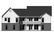 Craftsman Style House Plan - 3 Beds 2 Baths 1637 Sq/Ft Plan #21-353 Exterior - Rear Elevation