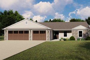 Craftsman Exterior - Front Elevation Plan #1064-129