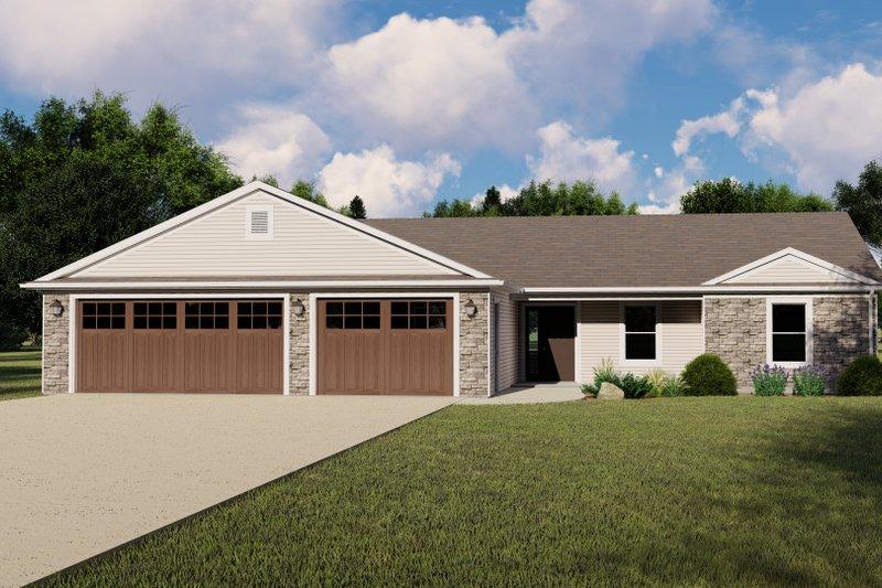 House Design - Craftsman Exterior - Front Elevation Plan #1064-129
