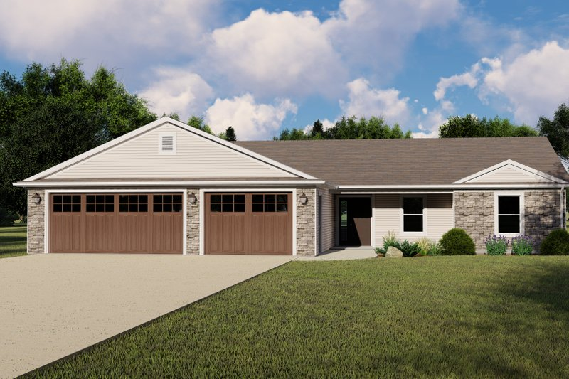 Home Plan - Craftsman Exterior - Front Elevation Plan #1064-129