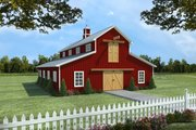 Traditional Style House Plan - 1 Beds 1 Baths 2358 Sq/Ft Plan #21-389 Exterior - Front Elevation