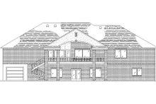 House Plan Design - European Exterior - Rear Elevation Plan #5-265
