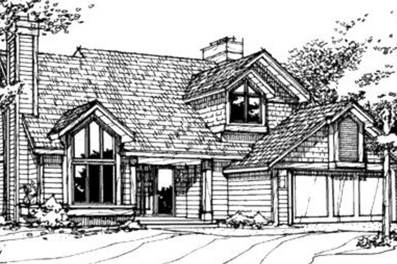 Exterior - Front Elevation Plan #320-476 - Houseplans.com
