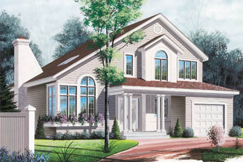 Modern Exterior - Front Elevation Plan #23-240
