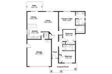 Craftsman Floor Plan - Main Floor Plan Plan #124-776