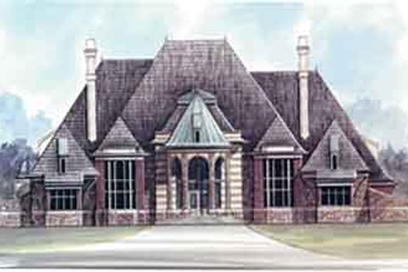 European Style House Plan - 3 Beds 3.5 Baths 6431 Sq/Ft Plan #119-170 Exterior - Front Elevation