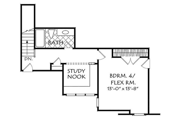 Country Floor Plan - Upper Floor Plan #927-17