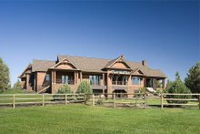 Home Plan - Rear View - 5300 square foot Craftsman home