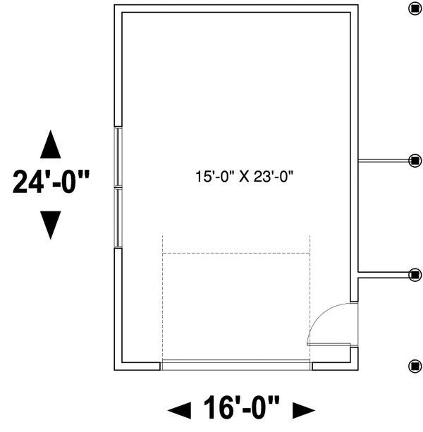 Contemporary Floor Plan - Main Floor Plan Plan #23-2668