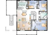 Traditional Style House Plan - 3 Beds 1 Baths 2307 Sq/Ft Plan #23-2167 Floor Plan - Main Floor Plan