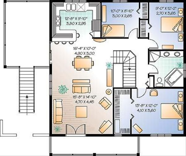 Traditional Floor Plan - Main Floor Plan Plan #23-2167